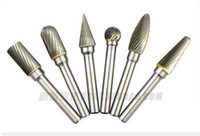 Wholesale Wholesale Carbide Bur - Free shipping 6mmx10mm Double Cut Cylindrical Tungsten Carbide Bur Rotary File Cutter 6pc  lot for electric drill   rotary tool order<$18no