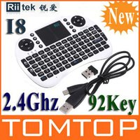 Commande Boîte Usb Pas Cher-2.4G Rii Mini Wireless Keyboard i8 avec Touchpad pour PC Pad Google Andriod TV Box Xbox360 PS3 HTPC / ordre IPTV $ 18Personne piste