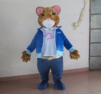 Wholesale Hamsters Costumes - SX0724 With one mini fan inside the head a small hamster mascot costume for adult to wear
