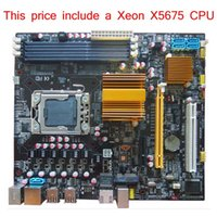 Wholesale Intel X58 Express - Wholesale-New Mainboard Original X58 Micro ATX Motherboard LGA1366 install with Xeon X5675 CPU include server processor