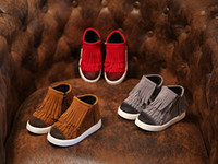 Wholesale Wholesale Wind Shoes - 2015 British wind fashion casual shoes Autumn & Winter 4 - 6 years old rubber soles kids shoes girl tassel boots in stock 10pair 20pcs C3