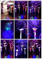 Wholesale Giant Wholesale - In Stock 3 Meters Luminous LED Latex Balloons Giant Bright Balloon Fancy Toy Festival Party Supplies Birthday Christmas Party Decorations