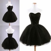 Wholesale Cheap After Dresses - Cheap Fluffy Short Prom Dresses 2015 Sweetheart Corset Ball Gowns Homecoming Dress Beaded Lace After Reception Dresses for Wedding Events
