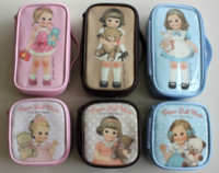 Wholesale Doll Mate - Wholesale-girl small bag Afrocat doll paper doll mate waterproof cosmetic bag storage gilr Cases