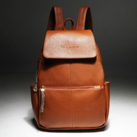 Dropshipping Brown Leather Backpack Women UK | Free UK Delivery on ...