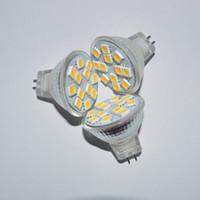 mr11 led ampuller toptan satış-DHL Ücretsiz kuvars cam MR11 Gu4 3 W 6500 K 180-200LM 12x5050 SMD LED Beyaz Işık Ampul 12 V spot 150 Derece downlight
