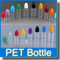 ecig haustier großhandel-PET Plastikflasche mit Nadelverschluss Leere Tropfflasche mit Ecig Kindersicherer Verschluss Nadelverschluss 5ml 10ml 15ml 20ml 30ml 50ml 500St