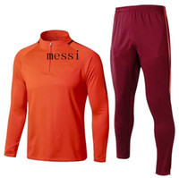 Wholesale Express Men Jacket - best quality 2017 2018 soccer jersey jacket tracksuit 17 18 MESSI football jacket sportswear Training suit Express Free