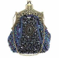 bride bag achat en gros de-Sacs de soirée élégants Vintage perlés brodés Soirée exotique Handmake pour femme Hasp Sacs à main Cheongsam Mariée Sacs formel Occasions Clutch