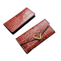 Wholesale Drop Shipping Purses - New Arrival Real Genuine Leather Wallet For Women Female 3 Colors Fashion Vintage Long Purse With Love Heart Clutch For Lady Drop Shipping