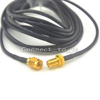 Wholesale Ham Radio Base Antenna - Wholesale-10pcs Antenna 433Mhz 5dbi SMA Plug straight with Magnetic base for Ham radio+Pigtail cable RG174 3M SMA female to male connector