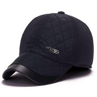 Wholesale Mens Strong - New Winter Baseball Cap Mens Winter Hats Ear Flaps Famous Brand ZHENYUEQI Strong Heat Windbreak For Adult Size 56-59cm