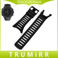 Wholesale Watch Suunto Sports - Wholesale- Silicone Rubber Watchband + Screwdriver for Suunto Ambit 1 2 2S 2R 3 Peak Sport Run Watch Band Black Steel Buckle Wrist Strap