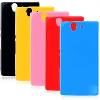 Wholesale Xperia Z Protective Cover - Fashion Candy Colors Jelly Soft TPU Silicone Shockproof Case for Sony Xperia Z Z1 Z2 Z3 Z4 Z5 Cell Phone Protective Cover Bags