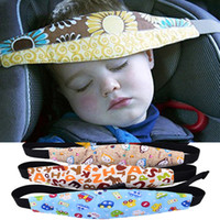 correas para asientos infantiles al por mayor-Infant Head Head Cinturón de Seguridad para Niños 15 Estilo Ajustable Nap Sleep Holder Cinturón Correa de Fijación para Asiento Correa para Bebé Baby Carriage Bed Cinturón de Protección