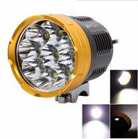 ingrosso proiettore 8.4v-Ultra Luminoso 13800LM 9L2 9x Cree XM-L L2 LED 4-mode Ricaricabile Lampada per Bici da Campeggio per Bicicletta Luce + 8,4 V 6x18650 Confezione + Caricatore AC