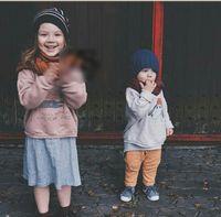 Wholesale Wholesale Fleece Jumpers Boy - INS kids T-shirts fashion boys girls Animal printed long sleeve sweatshirts children fleece pullovers Autumn winter kids tops G1536