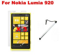 Wholesale Touch Pen For Lumia - Wholesale-Silver Touch Screen pen PDA Pen Mobile Phone Stylus For Nokia Lumia 920