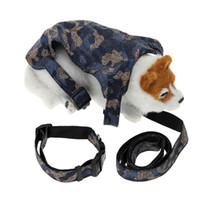Coole Puppy Traction Anzug Pet Hundegeschirr Set Hundelaufleine mit Camouflage-Entwurf PU-Leder Zugseil Dog Supplies