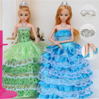 """Wholesale Plastic Doll Joints - 12 Moveable Joint Body Princess Babe Doll 30cm 11"""" Wedding Design Dress Suite Kids Toy Brinquedo Girl Gift"""