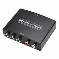 Wholesale component rca converter - 1pcs HDMI To 5RCA RGB Component YPbPr Video +R L Audio Adapter Converter For HDTV With Power Supply US Plug