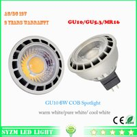 12v 5w Cold White 12volt led light bulb mr16 6watts led spotlight cob warm white white shell color black+silver New Style free shipping