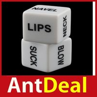 Wholesale Hot Sex Dice - Wholesale-Wonderful! antdeal Amy2_Pair Funny Adult Love Humour Sex Gambling Sexy Romance Erotic Craps Dice Pipe 02 Hot New fashional