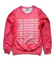 039f4b4a18184 Real USA size 1-800 Hotline Bling Drake Fashion Print 3D Sweatshirt  Crewneck Plus Size fleece streetwear