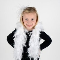 feder boa schals großhandel-Chandelle Feather Dress Zubehör Black Feather Boa Party Kostüm Boas Marabou Schal Feather Boa Schal Wrap Burlesque Can Can Saloon
