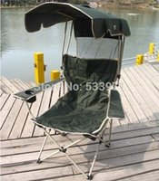 outdoor folding chairs with canopy - New Portable Folding Outdoor Fishing Chair With Canopy Causal Foldable Beach Chair With Anti UV Awning Backpack Type Chair