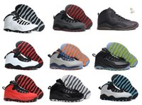 Wholesale Bulls Training - Free shipping Hot Air Retro X 10 men Basketball Shoes Bulls OVO Over Broadway Sports Shoes Training Boots Men Athletic Sneakers Eur 41-47