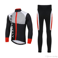 Wholesale Road Bike Pants - Outdoor Men Sport Cycling Clothing Set Spring Autumn Road Bicycle Bike Riding Long Sleeve Jersey + Padded Bib Pants Breathable
