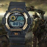 Wholesale Stop Digital - Hot Digital Sport Military Watch 30M Waterproof Multifunction Climbing Dive LED Digital Watches Men's Stop Wristwatch