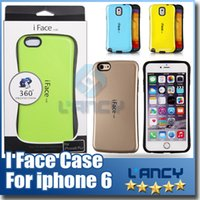 Wholesale Iface Iphone Tpu - iface Case For Samsung galaxy S6 edge cases PC+TPU Case for iPhone 6 plus 3 Colorful i face Back Cover Cases High Quality