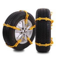 Wholesale 10pc Car snow chain Yellow black color TPU rubber tyre nonskid Muddy uphill sand tire antiskid tool