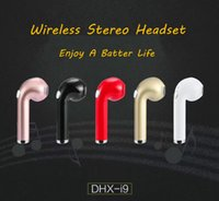 Wholesale Driver Usb - 2018 New Wholesale i9 Mini Bluetooth Earphone Wireless Music Handsfree Car Driver Headset Phone Stealth Earbuds With Microphone not HBQ i7