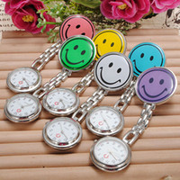 New Smile Face infirmière montre Doctor Metal Stainless Nurse Medical Clip Pocket Watches multicolore Broche Timer DHL Livraison gratuite