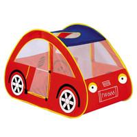 rotes spielzelt großhandel-Rotes Auto Spielhaus Kinder Spielzeug Zelte Kinder Kinder Spielen Zelte Outdoor Garten Falten Tragbare Spielzeug Zelte