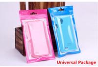 iphone mini 5c fälle großhandel-Plastikreißverschluss-Kleinpaket-Taschen-Universalhandy-Kasten-Kabel-Polyverpackungs-Taschen für iPhone 4 5 5S 5C Samsung S4 S3 Anmerkung 2 3 iPad Mini