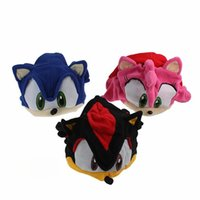 chapéus jogos venda por atacado-Cosplay Anime dos desenhos animados Sonic The Hedgehog Plush Hat Hat Cap Quente chapéu do inverno