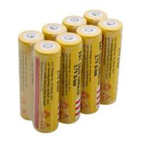 bateria recarregável venda por atacado-Amarelo Novo Ultrafire 18650 Baterias 5000 mAh 3.7 V Bateria Recarregável para LED Lanterna caneta Laser Frete Grátis