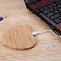 Bambus Wireless Charger Pad für Handy Wireless Charging Pad Holz für iPhone Samsung Galaxy S7 S6 Note5 S6 ​​Rand Nokia HTC LG Qi