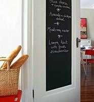 selbstklebendes tafelpapier großhandel-Heißer Verkauf 45 x 200 cm Abnehmbare Tafel Wand Papier Aufkleber mit 5 Kostenlose Kreide selbstklebende Tafel Aufkleber Malerei Bord