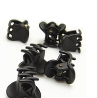 Wholesale Claw Clip Hair Pieces - Wholesale-Fashion Plastic Ladies six Claws Hairpin Hair Clip Clamp Black 12 Piece