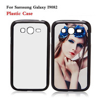 Wholesale Sublimation Galaxy Grand - Samsung GALAXY Grand i9082 DIY 2D Sublimation Heat Press PC Cover Case With Blank Metal Aluminium Plates DHL Free Shipping