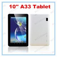 Wholesale Cortex Pc - 10 Inch Quad Core Tablet PC A33 X5 Android 4.4 1GB RAM 8GB ROM Wifi Dual Camera ARM Cortex A7 HD Capacity Screen 10.1 10.2