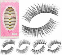 Wholesale hair japanese - False Eyelashes Japanese 5 Different Styles for choices and 100%Hand Made to Product 10 Pairs per Set with Best Price