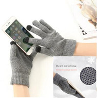 Wholesale Ipad Gloves Women - Anti-skid Capacity Touch Screen Knitted Gloves Thicken Warm Winter Men Women Mittens Driving Glove For ipad iPhone X 8 plus Smart phone DHL