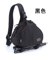 Wholesale Cameras Shoulders Carry - Camera Bag Case Waterproof Messenger Shoulder Camera Bag Video Portable diagonal Triangle Carry Case Black Gray Red Khaki