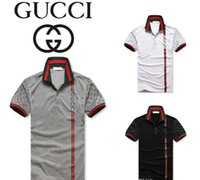 Wholesale Polyester Polo - New G & G fashion men's summer Euro US leisure pants collocation lapel POLO t shirts for men Italy polo shirt
